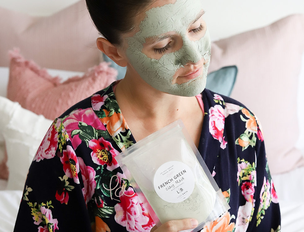 FRENCH GREEN CLAY MASK with Panthenol, 100g