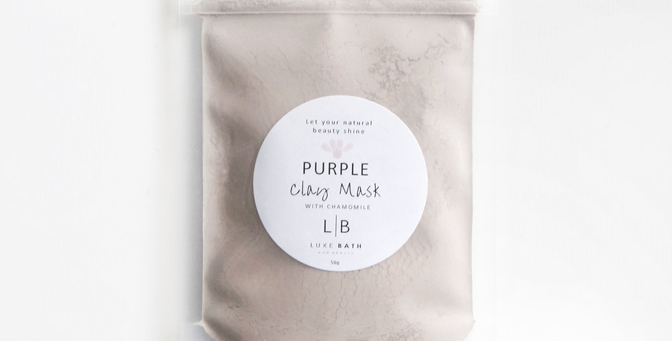 PURPLE CLAY MASK with Organic Chamomile, 100g