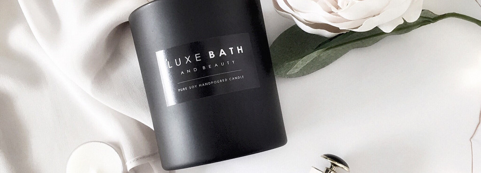 MATTE BLACK SCENTED CANDLE by Luxe Bath and Beauty