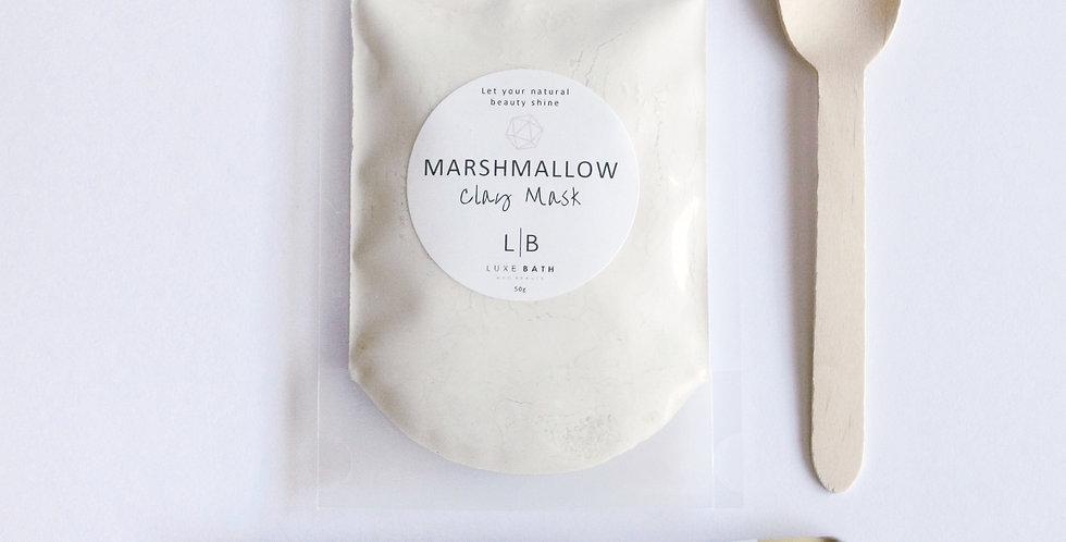 MARSHMALLOW CLAY MASK with Organic Aloe Vera, 100g