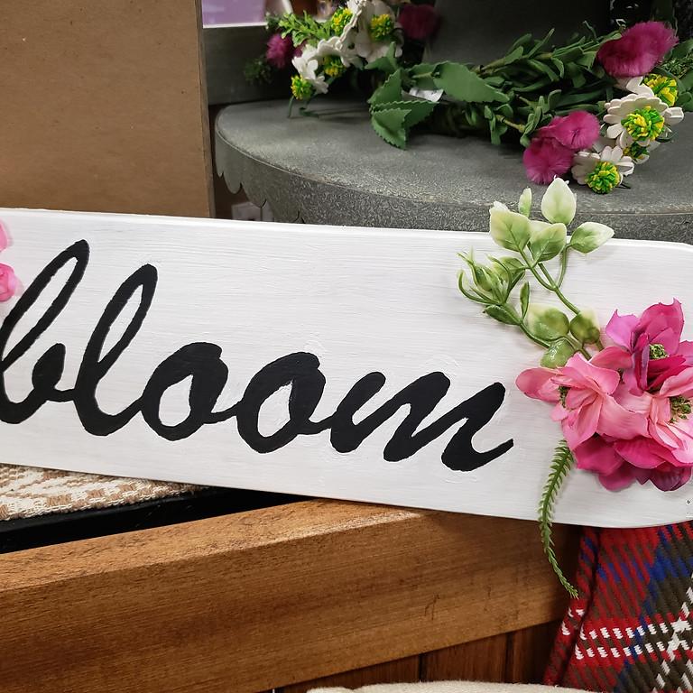 Create A Craft Class Bloom Sign