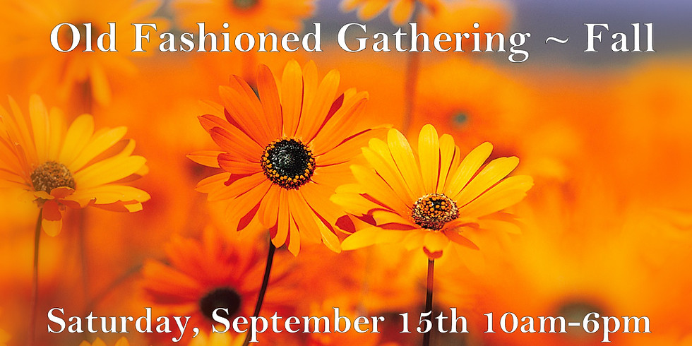 Old Fashioned Gathering Fall Edition Anniversary Party