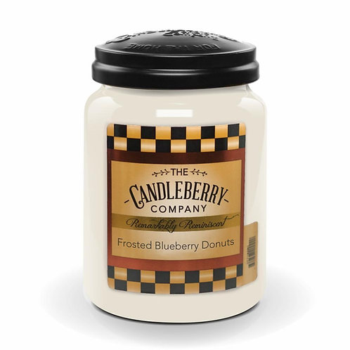 Frosted Blueberry Donuts Jar Candle 26oz