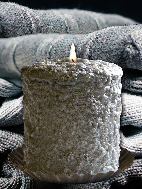 Grey Cashmere Warm Glow Hearth Candle