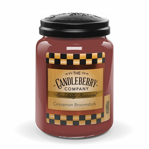 Cinnamon Broomstick Jar Candle 26oz