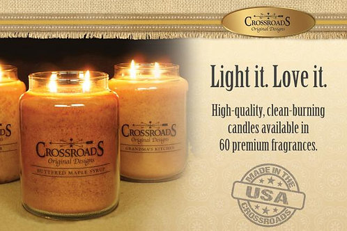 Crossroads Buttered Maple Syrup Jar Candle