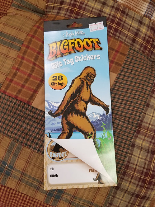 Big Foot Gift Tag Stickers
