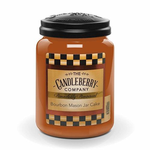 Bourbon Mason Jar Cake Candle 26oz