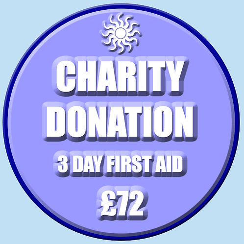 Charity Donation - 3 Day First Aid