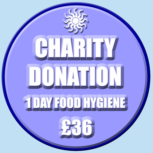 Charity Donation - 1 Day Food Hygiene
