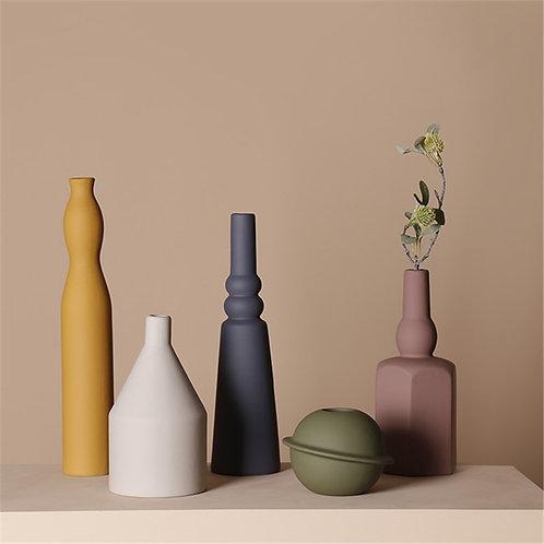 Nordic Geometric Artisan Vase