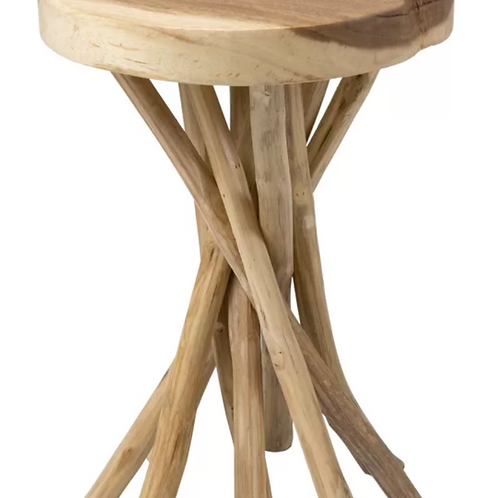 Lily Solid Wood Pedestal End Table