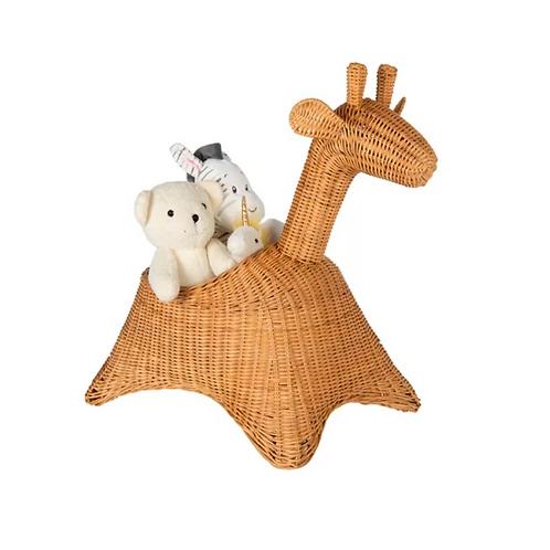 PAULINA Giraffe Wicker Basket