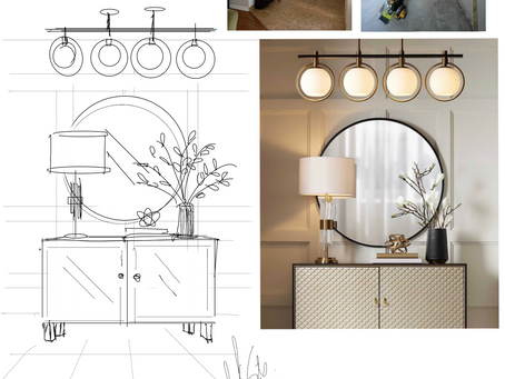 """How to decor your entryway with 3 details to """"Make a Great First Impression""""."""