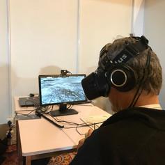Oculus Rift version shown at SIGGRAPH Asia 2016's VR Showcase.  Photo by Daria Tsoupikova, UIC/EVL
