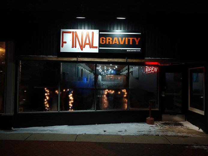 Final Gravity Brewing Company's taproom in Kalamazoo, MI