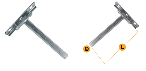 Invisible and adjustable shelf support, with side square