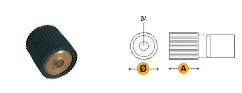 Reggicristallo in ottone con gomma