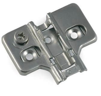 Plate for 3D clip-on hinge