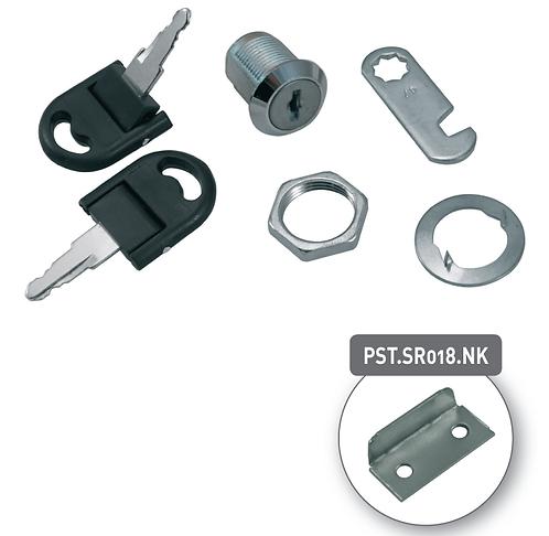 Drawer lock  with folding keys