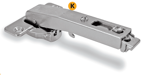 Clip-on zamak hinges to fix on the blind corners