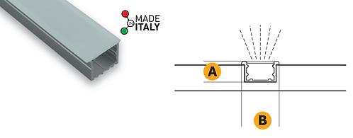 Profilo alluminio ad incasso e copertura opalina
