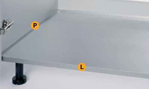 Fondo lavello per moduli larghi da 450 a 1200 mm - Profondità da 470 a 560 mm