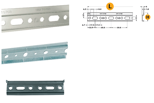Galvanized shelf support bars