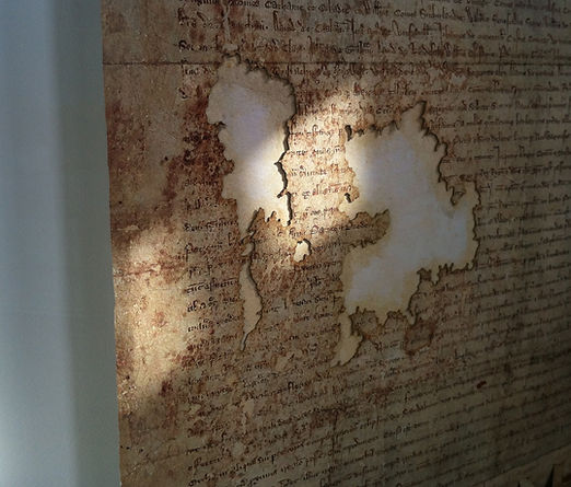 The Declaration of Arbroath, the hole in the parchment