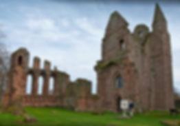 Steven Patrick Sim with the Declaration of Arbroath 3D Fine Art Replica, Arbroath Abbey 3rd April 2017