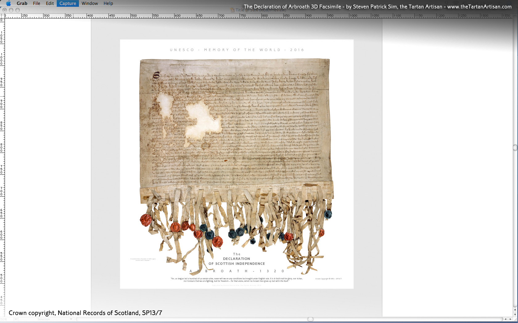 Declaration of Arbroath Facsimile