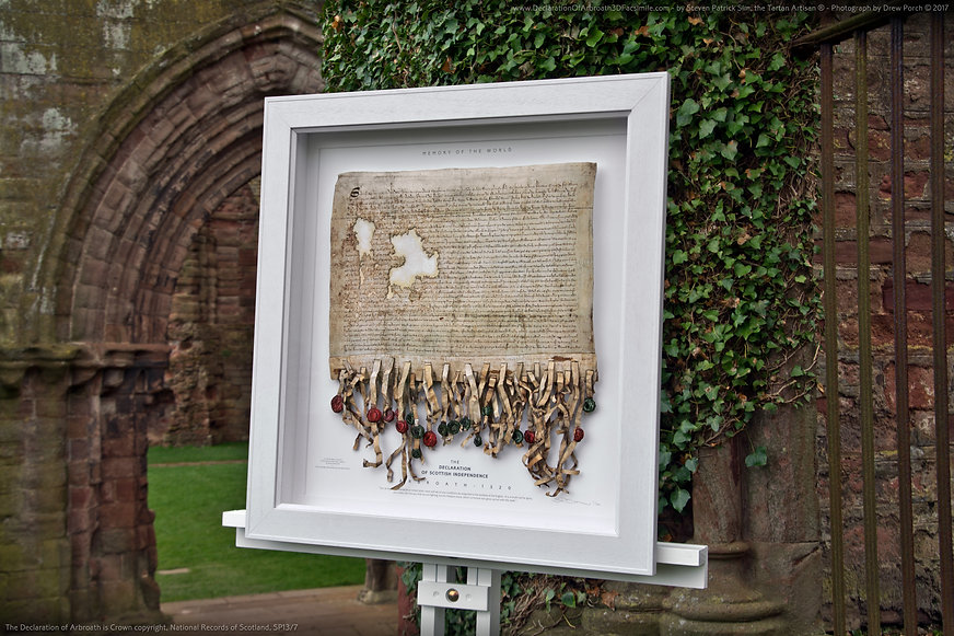 The Declaration Of Arbroath 3D Replica - At the Ivy - Arbroath Abbey 3rd April 2017 - Created by Steven Patrick Sim
