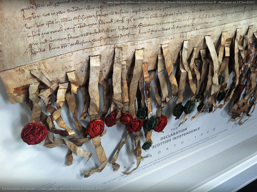 The Declaration of Arbroath 3D Facsimile ...fine art replica by Steven Patrick Sim