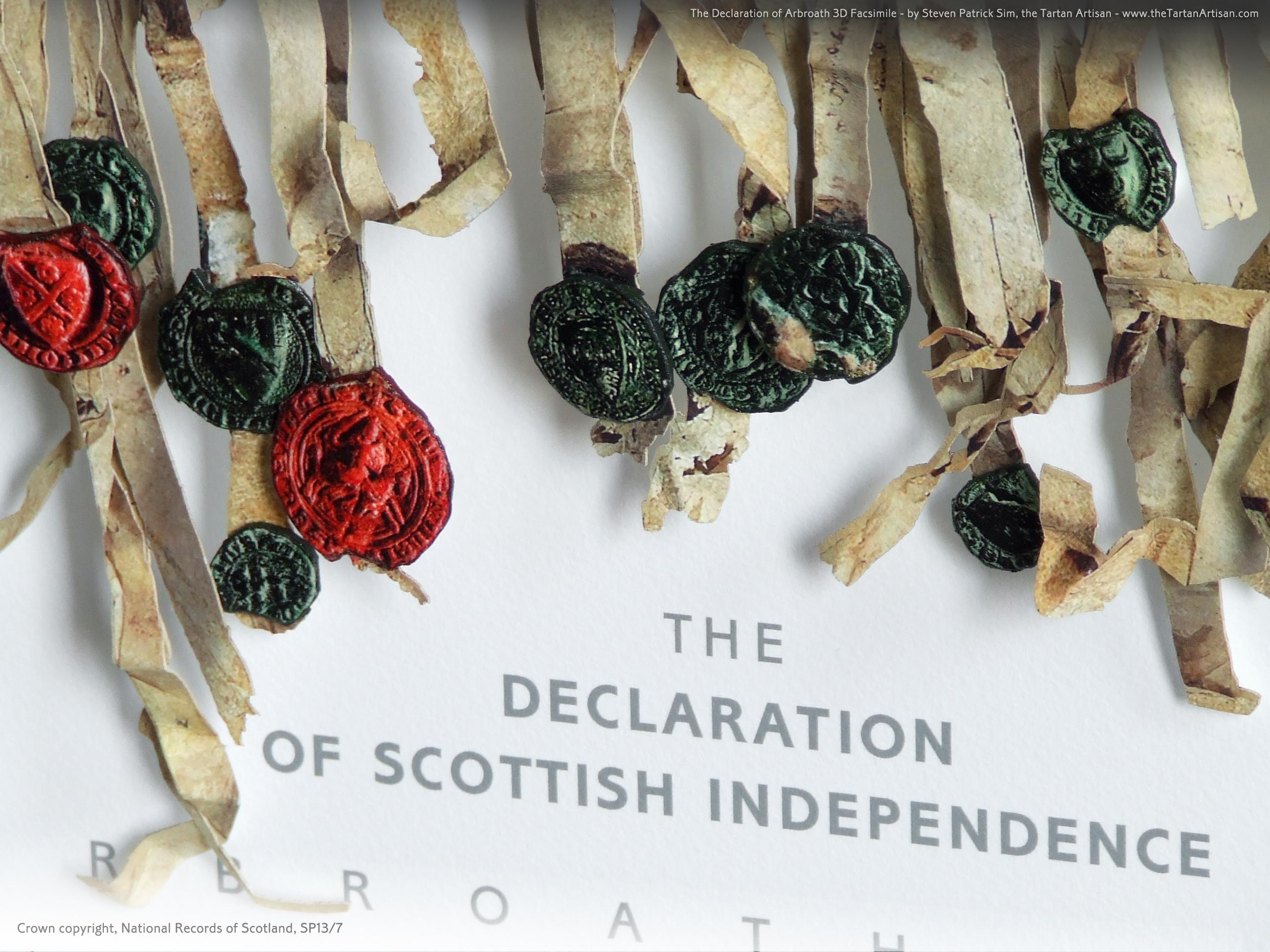 The Declaration of Arbroath replica