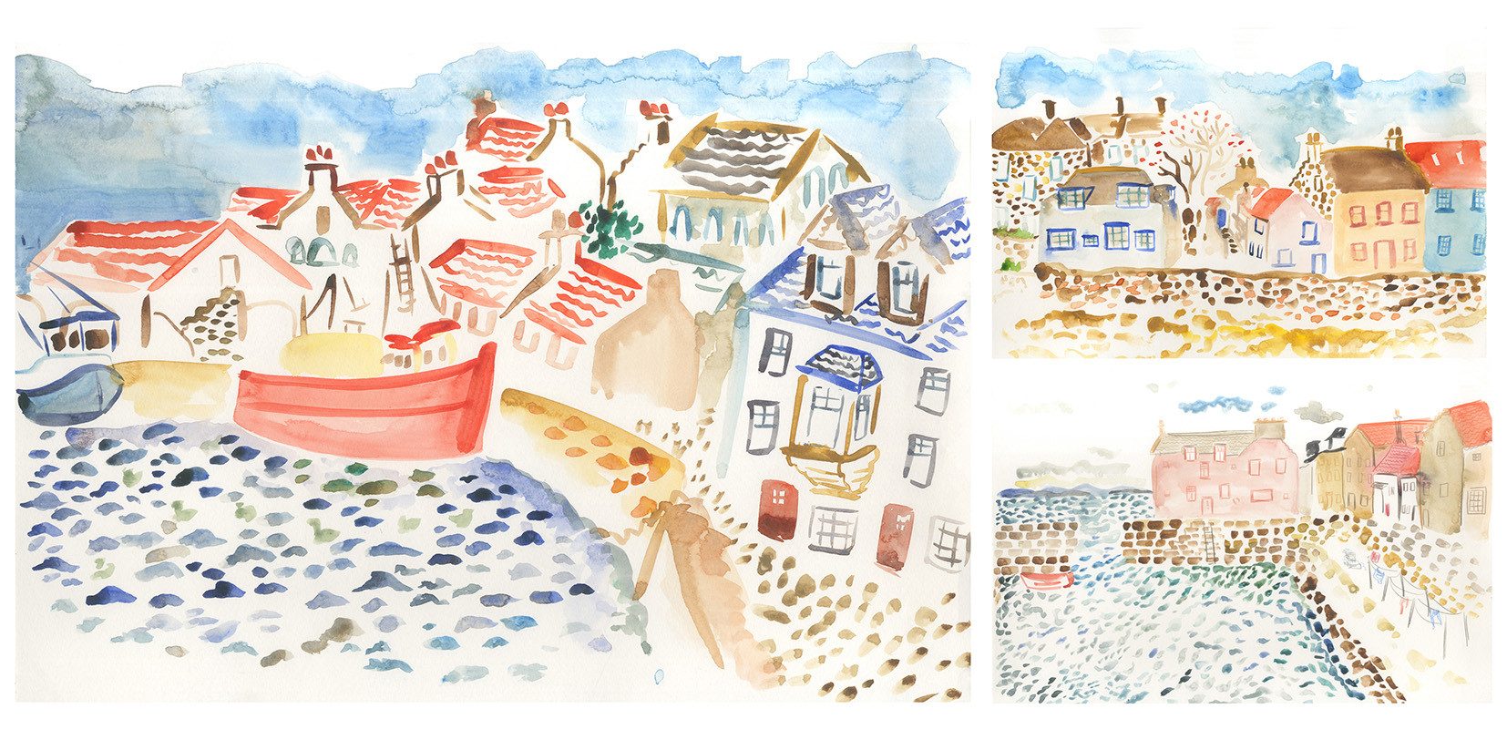 Observational paintings from Anstruther, Scotland