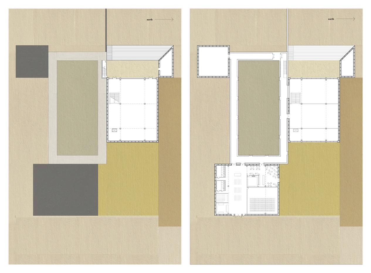 Lower ground and ground floor plan