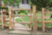 White cedar split rail gate