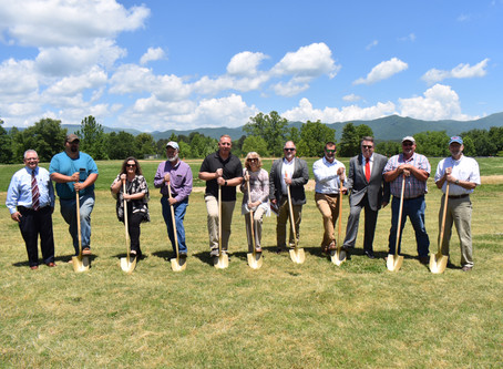 First shovel of earth for the new Hayesville Primary School
