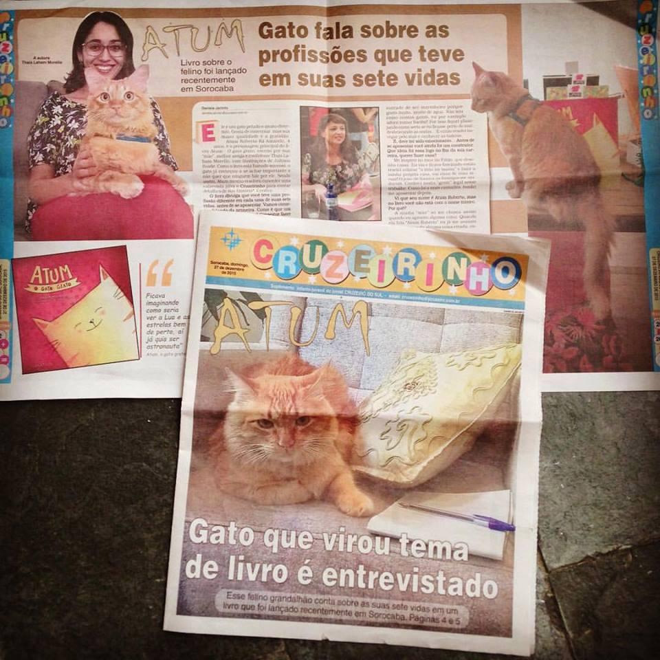 Atum no jornal Cruzeirinho
