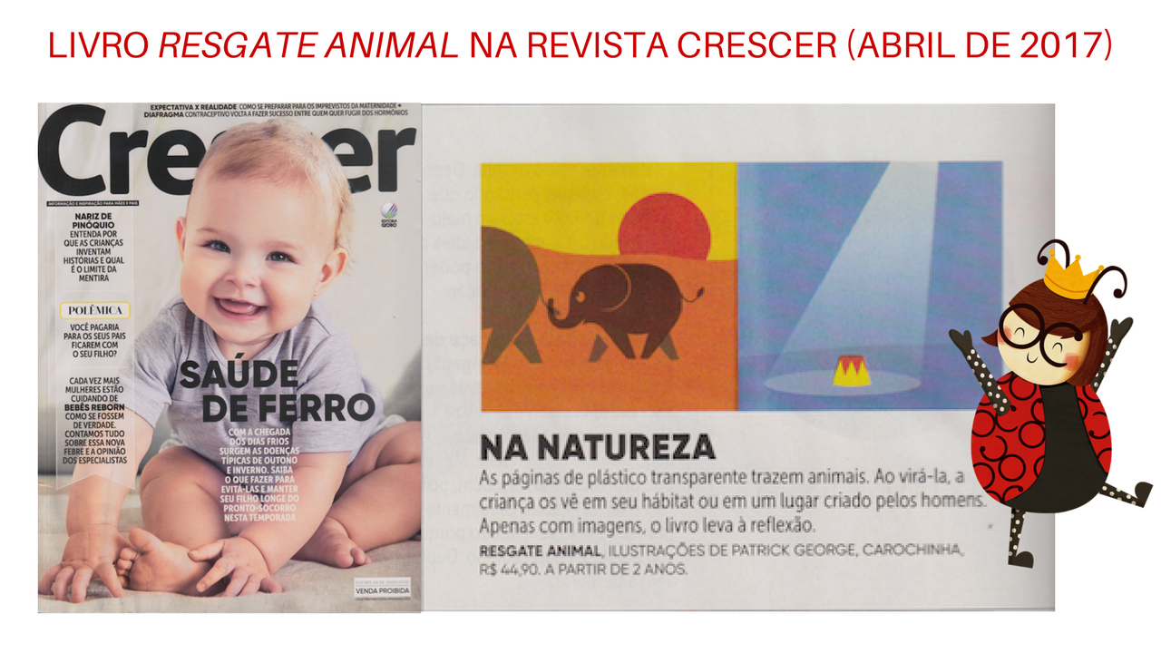Resgate Animal na revista Crescer