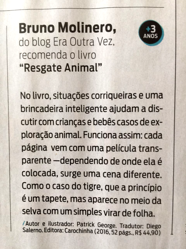 Resgate Animal na Revista da Folha