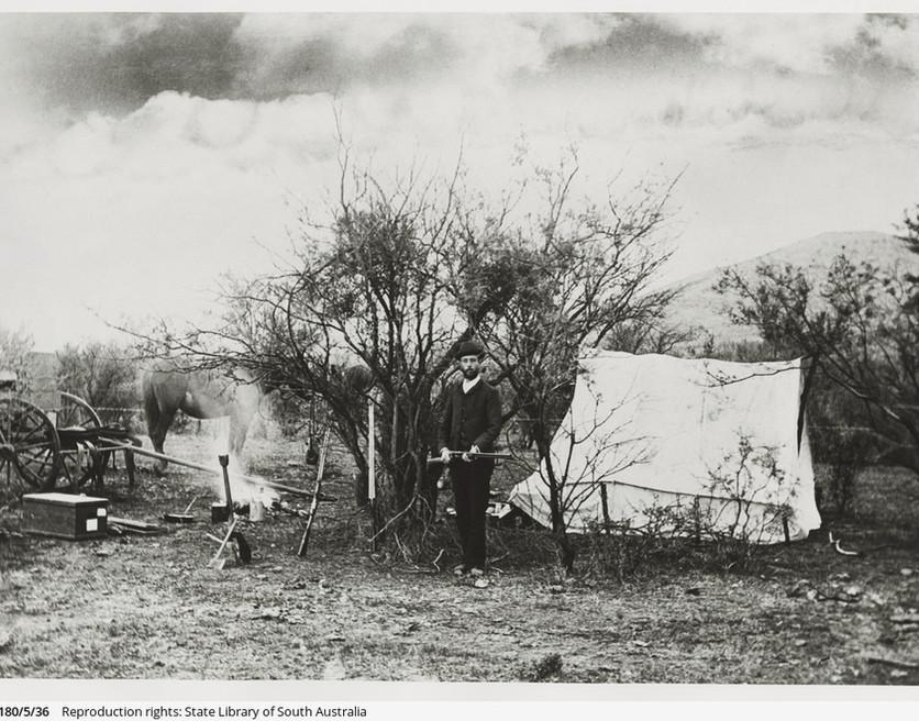 Camp in the Flinders Ranges, September 1