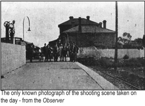 Riverton Railway Station after the murder of Percy Brookfield