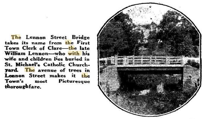 Early photograph of the Lennon St Bridge, Clare SA