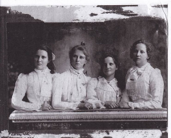 Four Hill Sisters L-R, Florence, Mary, J