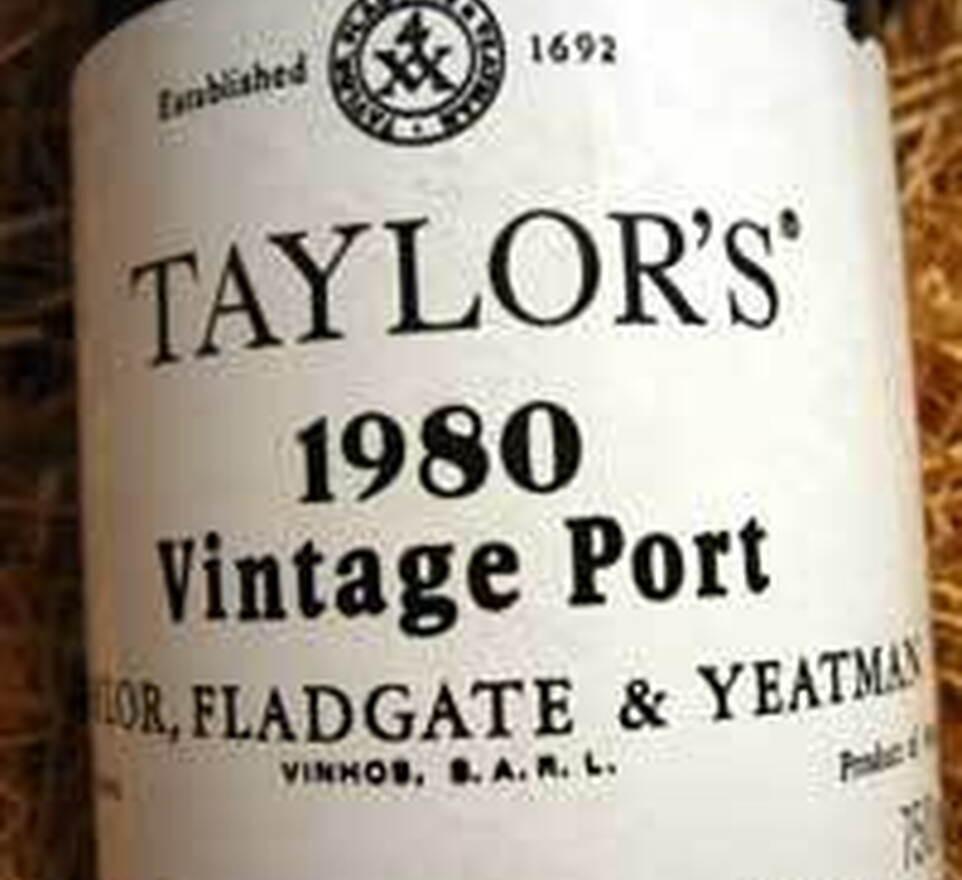 Taylors 1980 Vintage Port label