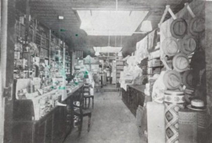 Victorsens General Store interior 1910