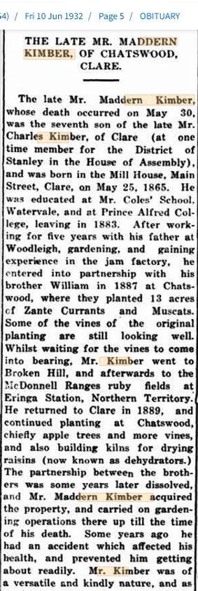 Obituary 1932 Maddern Kimber.jpg