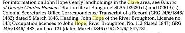 John Hope's Landholdings from 'Irish Sou