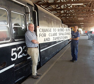 Change at Riverton for all Stations on the Clare Line.